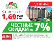 ЖК «Зелёные аллеи» Квартиры от 1,69 млн руб.!
